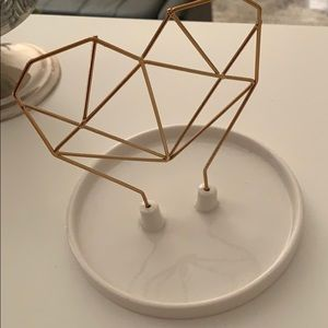 IMM LIVING WIRE HEART CERAMIC JEWELRY HOLDER